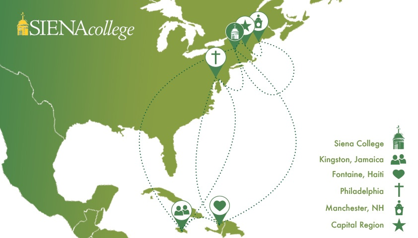Where are Siena College students this winter break?