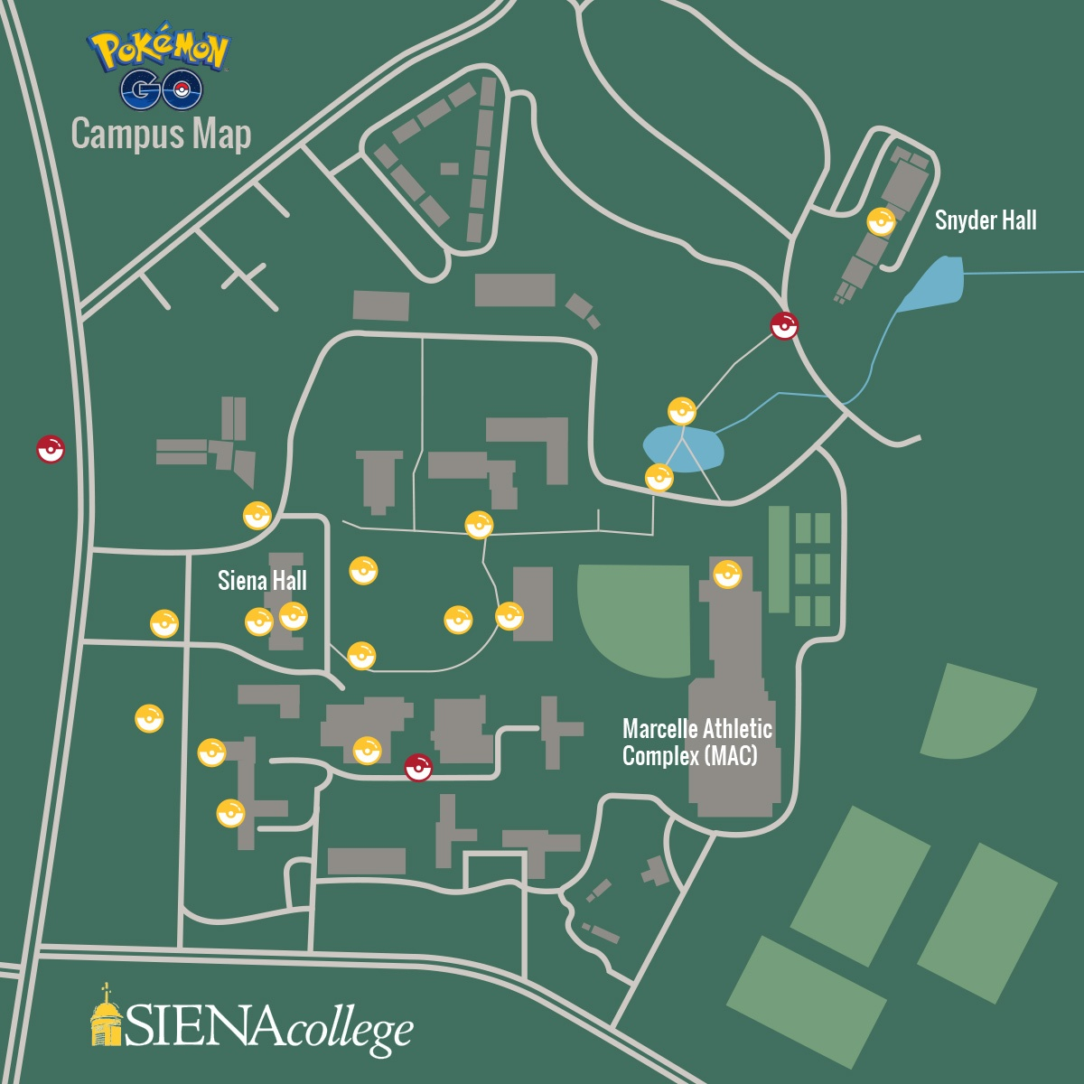 Pokemon Go at Siena Map