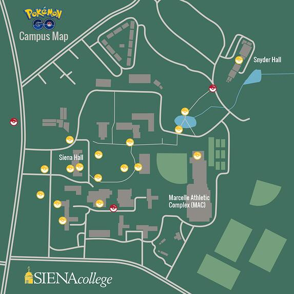 Pokemon Go at Siena Map