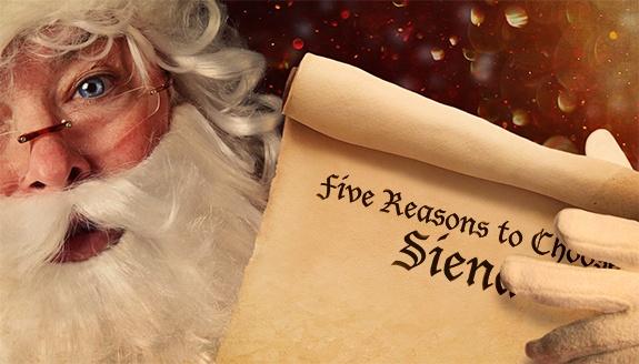 Five reasons to choose Siena by...Santa Claus