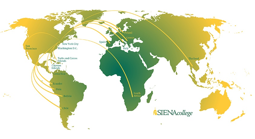 Where are Siena College students this summer?
